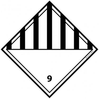 Panneau ADR 9 Matières et objets dangereux divers