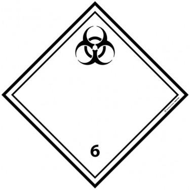 Panneau ADR 6.2 Matières infectieuses
