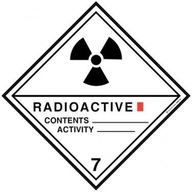 Panneau ADR 7A Matières radioactives