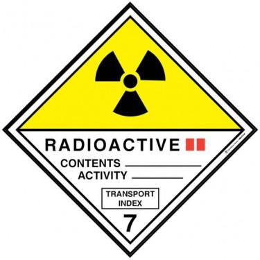 Panneau ADR 7B Matières radioactives