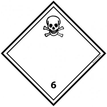 Panneau ADR 6.1 Matières toxiques