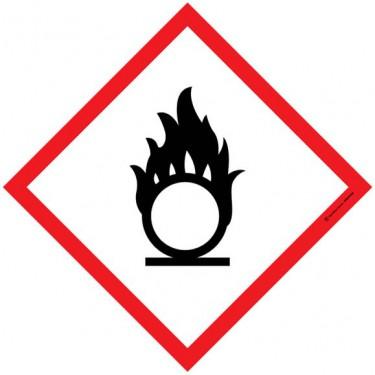 Autocollants matières comburantes SGH03 - Lot de 5