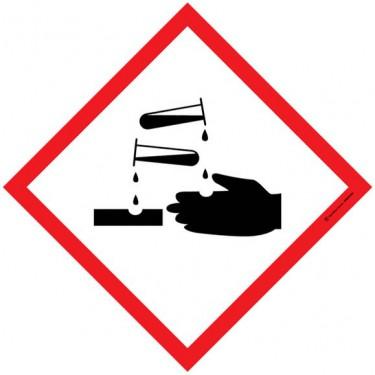 Autocollants matières corrosives SGH05 - Lot de 5