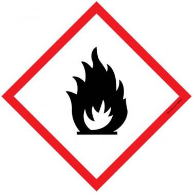 Autocollants Matières inflammables SGH02