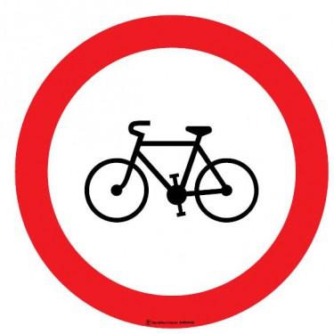 Autocollants Interdit aux vélos