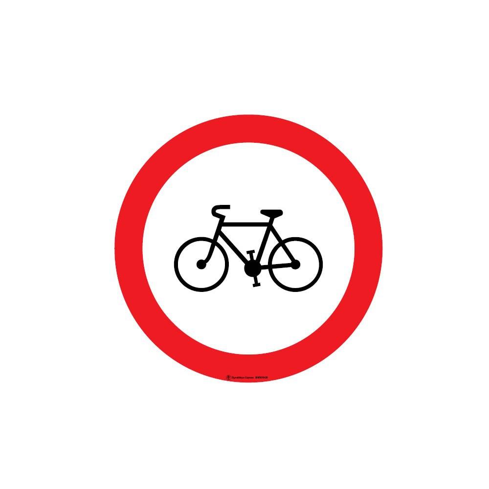 Lot de 5 autocollants visuel Interdit aux cycles
