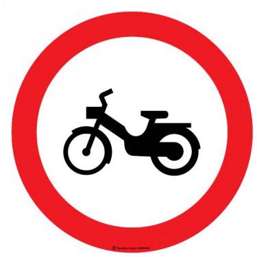 Panneau Interdit aux cyclomoteurs