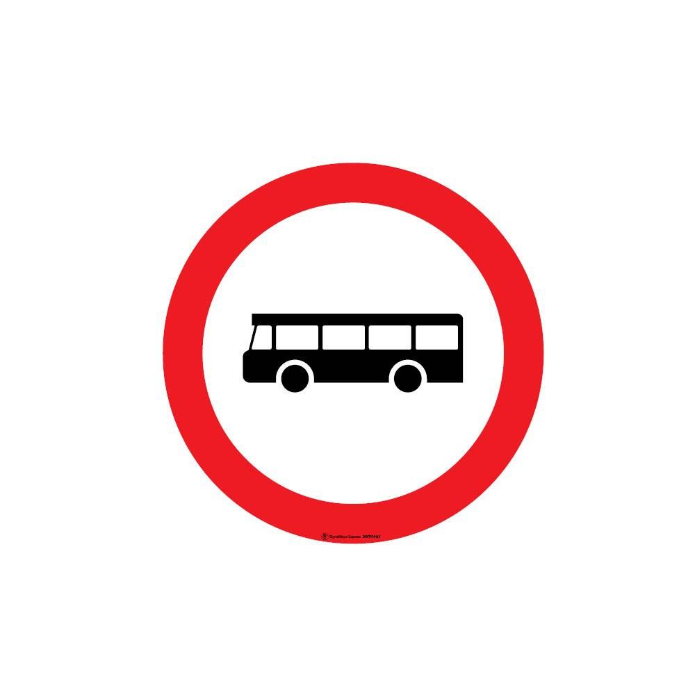 Panneau Accès interdit aux autobus