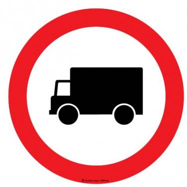 Panneau Accès interdit aux véhicules de transport de marchandises