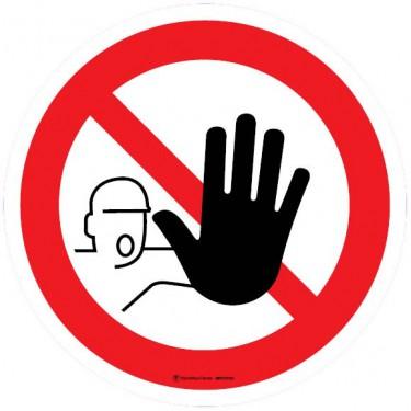 Autocollants Entrée interdite aux personnes non autorisées