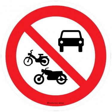Autocollants Interdit à tous les véhicules à moteur