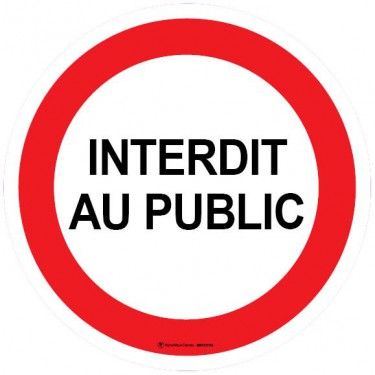 Autocollants Interdit au Public - Lot de 5