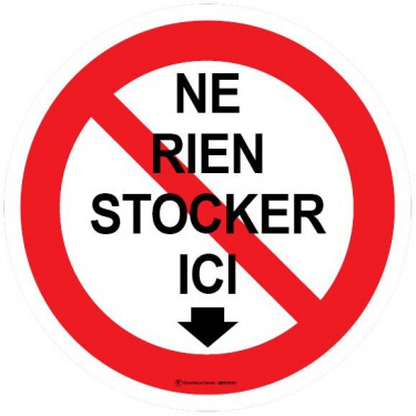 Autocollants Ne rien stocker ici - Lot de 5