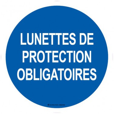 Autocollants Lunettes de protection obligatoires
