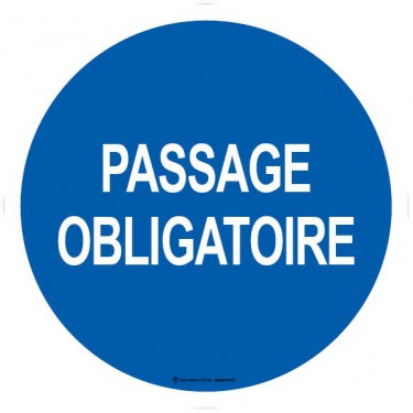 Lot de 5 autocollants visuel Passage obligatoire