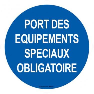Panneau Port des équipements spéciaux obligatoire