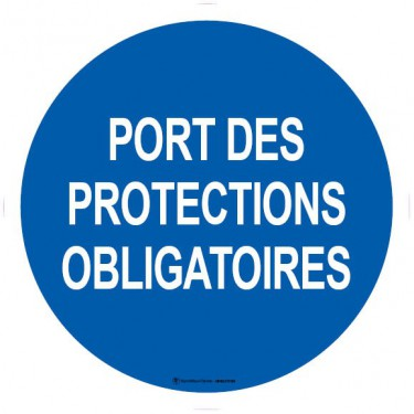 Lot de 5 autocollants visuel Port des Protections Obligatoires