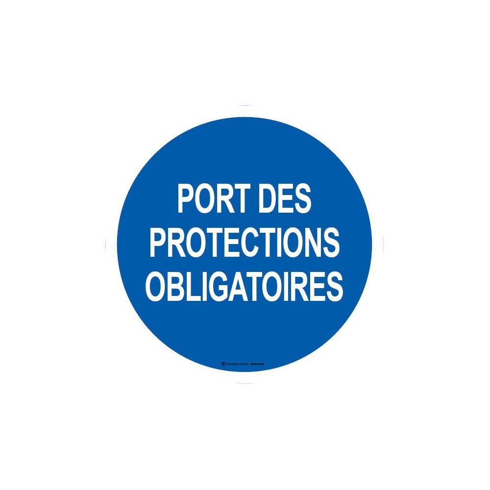 Panneau Port des protections obligatoires