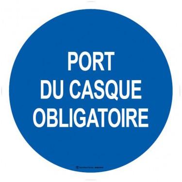 Autocollants Port du casque obligatoire
