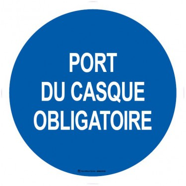 Lot de 5 autocollants visuel Port du Casque Obligatoire