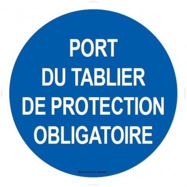 Lot de 5 autocollants visuel Port du tablier de protection obligatoire