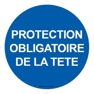 Lot de 5 autocollants visuel Protection obligatoire de la tête