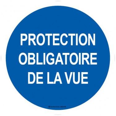 Autocollants Protection obligatoire de la vue