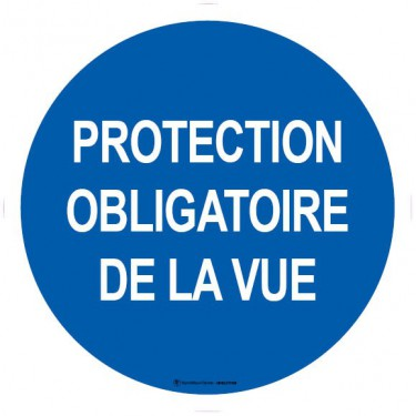 Lot de 5 autocollants visuel Protection obligatoire de la vue