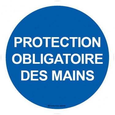 Autocollants Protection obligatoire des mains