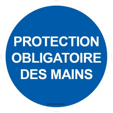 Lot de 5 autocollants visuel Protection obligatoire des mains