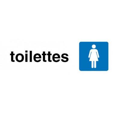 Plaque de porte Toilettes femmes