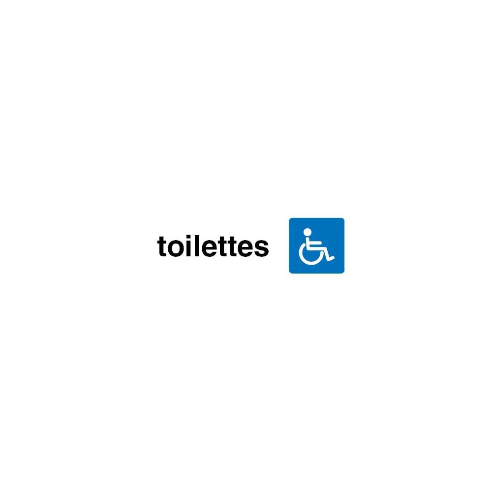 Plaque de porte Toilettes handicapés