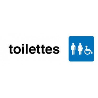 Plaque de Porte Toilettes Hommes Femmes Handicapés