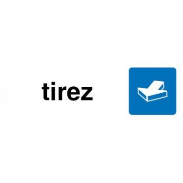 Plaque de porte Tirez