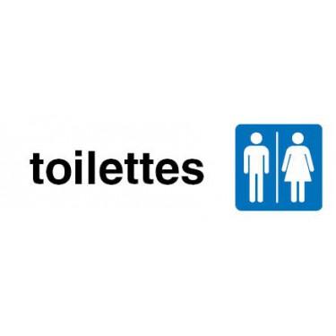 Plaque de porte Toilettes hommes femmes