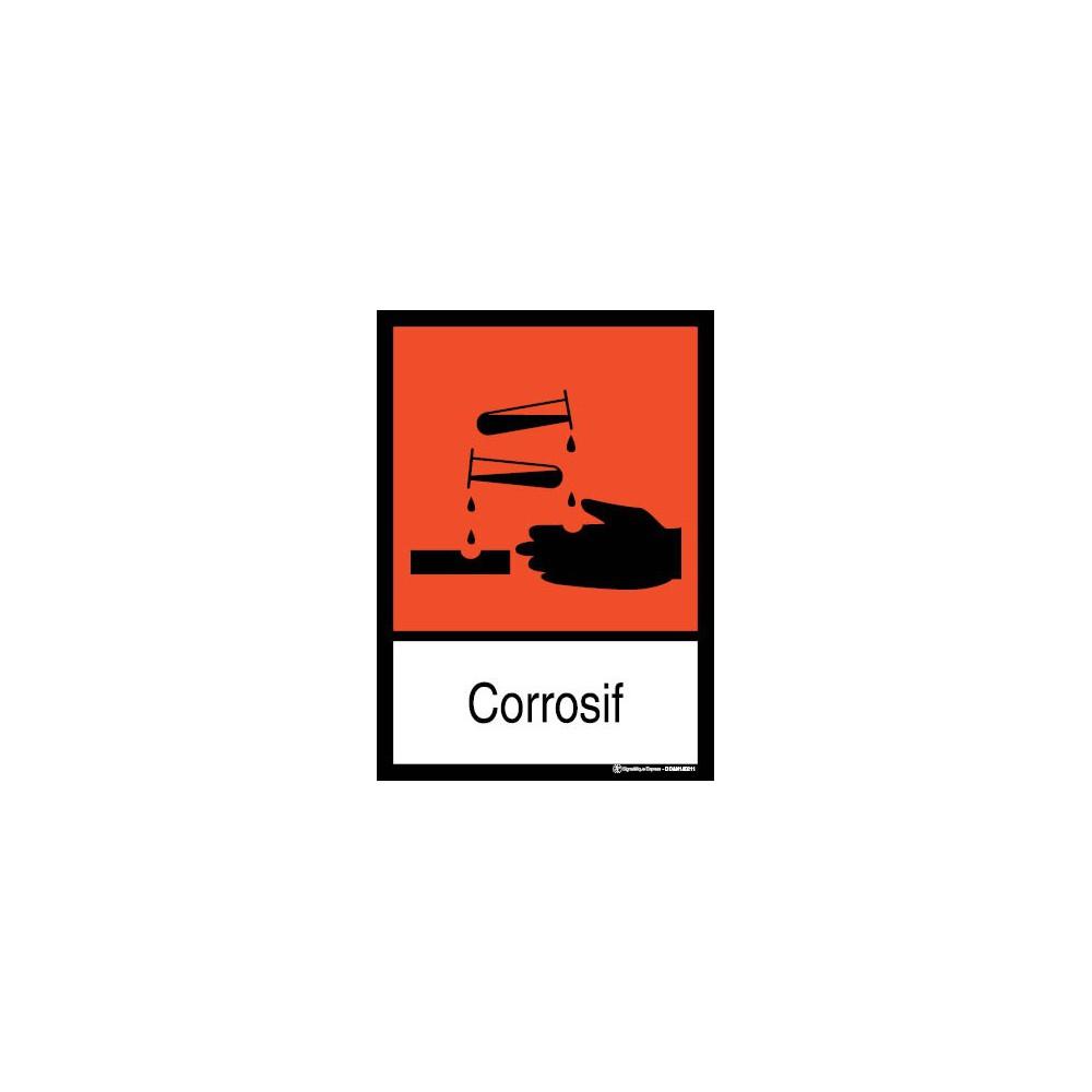 Panneau Corrosif visuel et texte