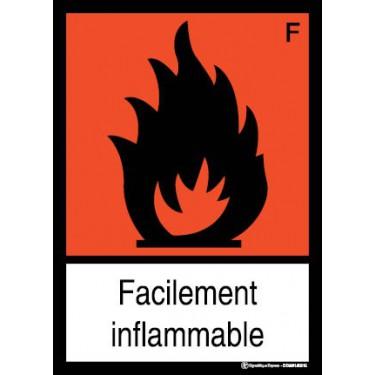 Panneau Facilement inflammable visuel et texte