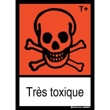 Panneau Très toxique visuel et texte