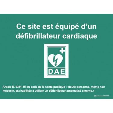 Panneau Site équipé Défibrillateur Automatique Externe