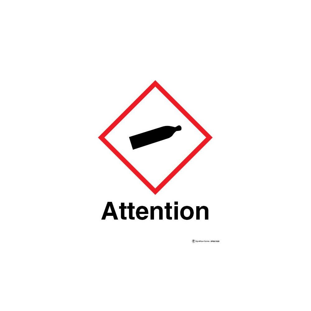Panneau Attention gaz sous pression SGH04