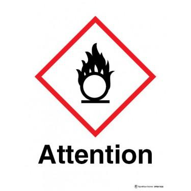 Panneau Attention matières comburantes SGH03