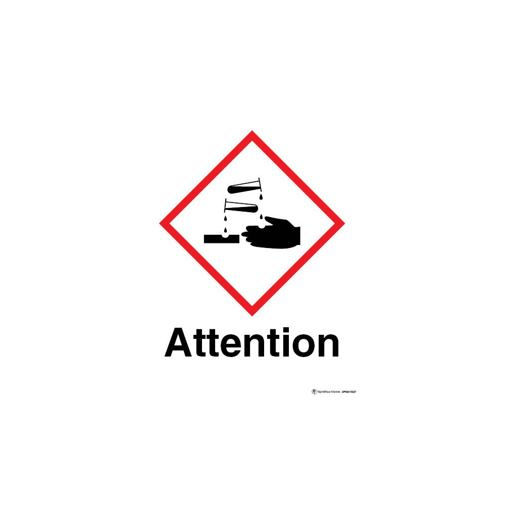 Panneau Attention matières corrosives SGH05
