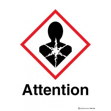Panneau Attention matière à risque important pour la santé SGH08