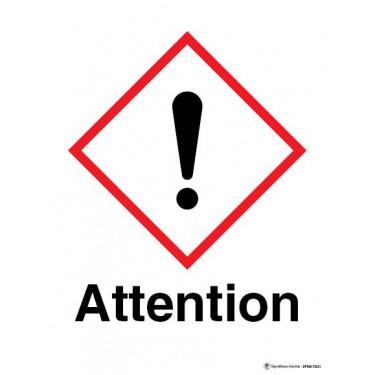 Panneau Attention matières nocives ou irritantes SGH07