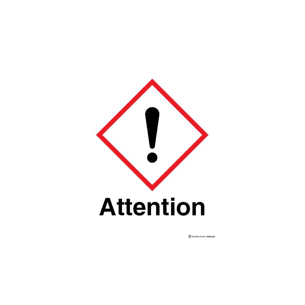 Panneau Attention matières nocives ou irritantes SGH07 | Signalétique Express