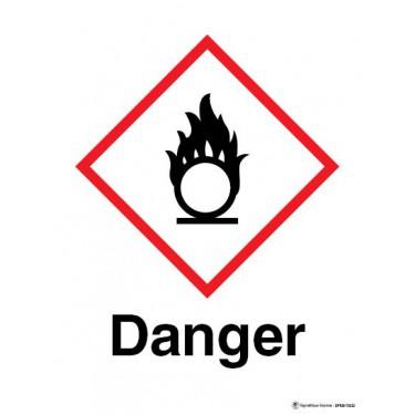 Panneau Danger matières comburantes SGH03