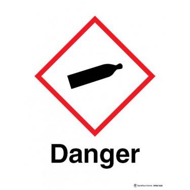 Panneau Danger gaz sous pression SGH04