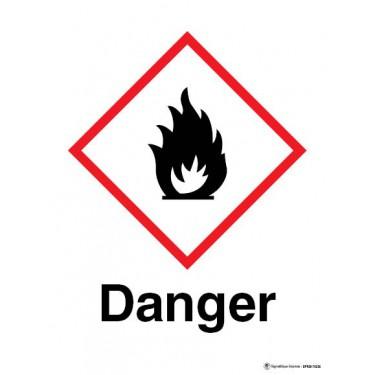 Panneau Danger matières inflammables SGH02