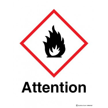 Panneau Attention matières inflammables SGH02