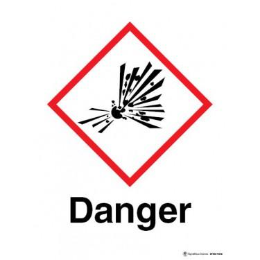 Panneau Danger matières explosives instables SGH01